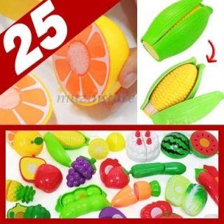 Food Kids Kitchen Pretend Play Set Plastic Play Food Set