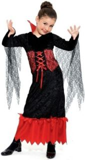 Vampire Queen Dress Girls Kids Halloween Costume Medium
