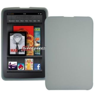 Fitted Skin Case Protection Cover Clear for  Kindle Fire Tablet