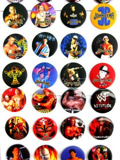 WWF Wrestling Button Pin Badges Kids Party Bag Fillers Toys Lot
