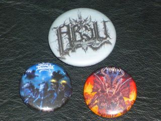 King Diamond Absu Nifelheim Pin Button lot dissection mercyful fate