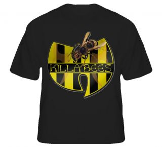 Mens Wu Tang Clan T Shirt Killa Bees Hip Hop Rap Logo T Shirt