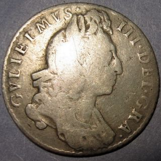 Britannia King William III Silver Sixpence 1697