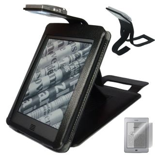 KINDLE TOUCH BLACK COVER CASE STAND WITH READING LIGHT LIGHTED SCREEN