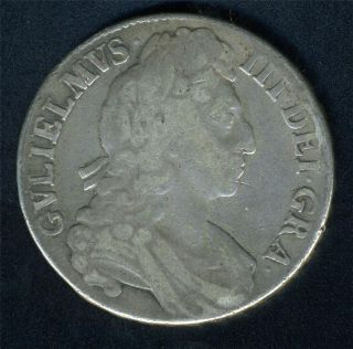 Great Britain 1 Crown 1696 King William III Silver Coin as Shown