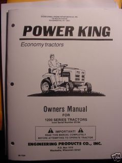 Power King Tractor Owners Parts Manual