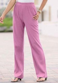 30 Womans Plus Rib Knit Pants Slacks 1x 3X 4X
