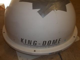 RV KING DOME WHITE AUTOMATIC SATELLITE DISH STATIONARY KING CONTROLS
