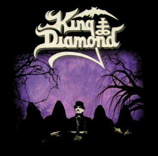 King Diamond CD lgo Band Photo Official Shirt LRG New Mercyful Fate