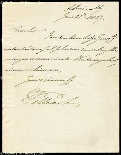 King William IV Autograph Letter Signed 06 21 1827