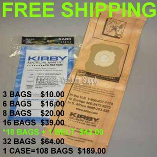 Kirby Vacuum Bags G3 G4 G5 G6 G7 197394 197294
