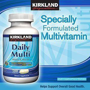 Kirkland Signature Daily Multi Vitamins & Minerals 500 Tablets   FREE