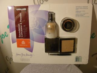 Kirkland Borghese Oil Free Mineral Sheer Foundation,Concealer, Powder