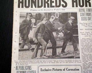 King George VI Coronation re Edward VIII Abdication 1937 Old Newspaper