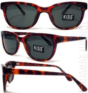 Medium Kiss Retro Sunglasses Smoke Lenses Tortoise 349