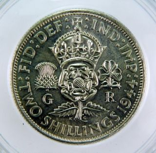1944 King George VI Two Shillings Florin CGS UNC 82. D Day Landing in