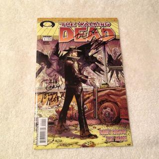 Walking Dead 1 First Print NM Signed By Robert Kirkman Tony Moore 1