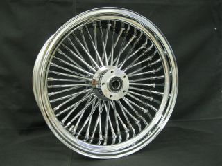 Chrome Ultima 48 Fat King Spoke Rear 18x3 5 Wheel for Harley and