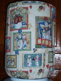 Winter Christmas 5 Gallon Kitchen Water Cooler Bottle Cover