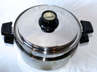 Kitchen Craft 6 Qt Pot with Steamer Insert 10 Utility Rack Vented Lid
