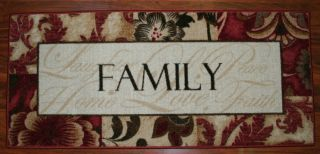 2X3 Kitchen Rug Mat Washable Mats Rugs Family Laughter Home Love Peace