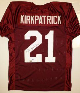 Dre Kirkpatrick Autographed Alabama Crimson Tide Jersey  AAA