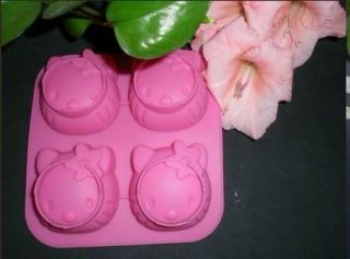 1pcs Four Hello Kitty Food Grade Silicone Cake Jelly Pudding DIY Mold