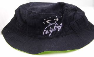 Kleiner Feigling Vodka Hat Fishing Cap Black Bright Green Great Gift