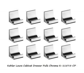 Kohler Loure 12 PK Cabinet Drawer Knobs Pulls Chrome for Kitchen Bath