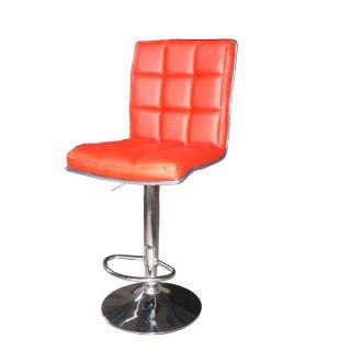 2pcs Restaurant Kitchen Counter Pub Salon Swivel Bar Stool Chair Red