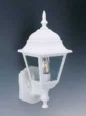 Outdoor Wall Mount Lantern Lighting Lamp White Aluminium 100W 16H x 6