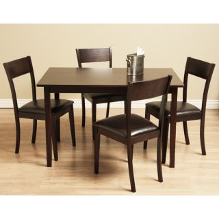 Wood 5 Piece Dining Room Set Kitchen Furniture Table And Chairs New