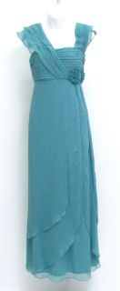 KM Collections 50824 Aqua Blue Long Mother of Bride Dress Formal Ball