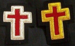 Medieval Masonic Knight Templar Uniform Sleeve Ceremony Cross Inch