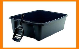 open Top Cat Litter Box Litter Pan with Litter Scooper CLP 6