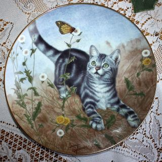 GARDEN OF WEEDIN IRENE SPENCER KITTEN KITTY CAT DANBURY MINT PLATE
