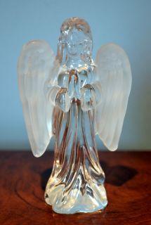 Glass Praying Angel Figurine Statue Hand Blown Beautiful 2 25L 1w 4
