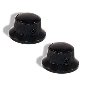 Knob Screw Hat Type 6mm Black with Black Pearl Cap 2 Pack