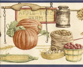 Antique Country Kitchen Harvest Wallpaper Border Wall