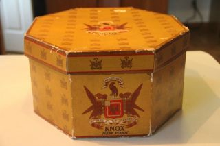 Vintage Antique Knox Hat Box New York