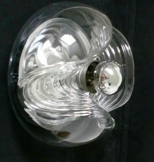 70s Koch Lowy lamp space age Op Art glass wall ceiling light Peill