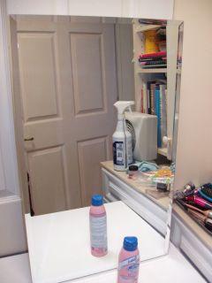 Broan USA Beveled Mirror Medicine Cabinet In Wall Mount, 2 Adjustable