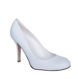 Paprika Class H Womens White High Heel Classic Pump