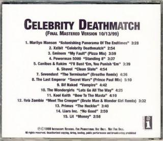 Marilyn Manson Eminem Kool Keith Lit Promo Advance CD