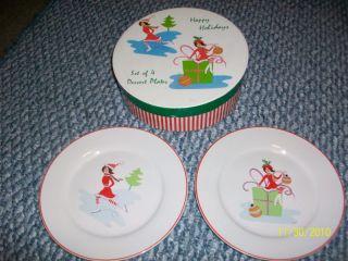 Wendoverlane Mary Kober Christmas Plates Set of 4
