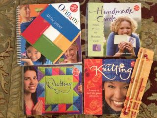 Lot Klutz 4 Books Quilting Knitting Handmade Cards Origami
