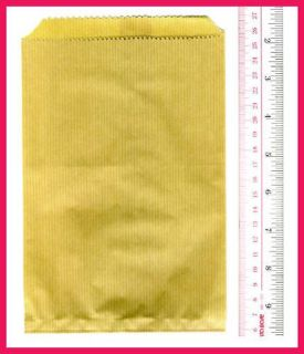 Classic Ribbed Kraft Paper Brown Gift Candy Bag 30pc