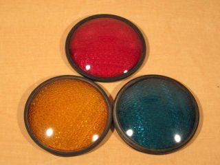 Kopp Glass 8 8 3 8 Traffic Light Lens Red Yellow Green TL4777
