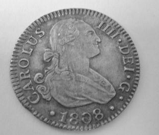 RARE 1808 Carolus IIII Dei G Hispaniarum Rex RS 2CN High Grade