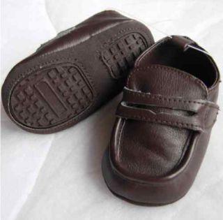 Koala Baby Boy Formal Leatherette Shoes Preemie NB 6mth